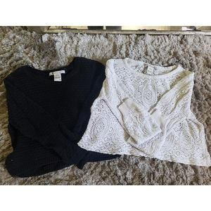 Two American Rag Cropped Sweaters